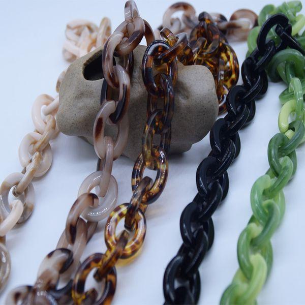 100 cm bricolage acrylique résine chaîne sac sangle collier en plastique sangle mode coloré femmes sac accessoires bandoulière