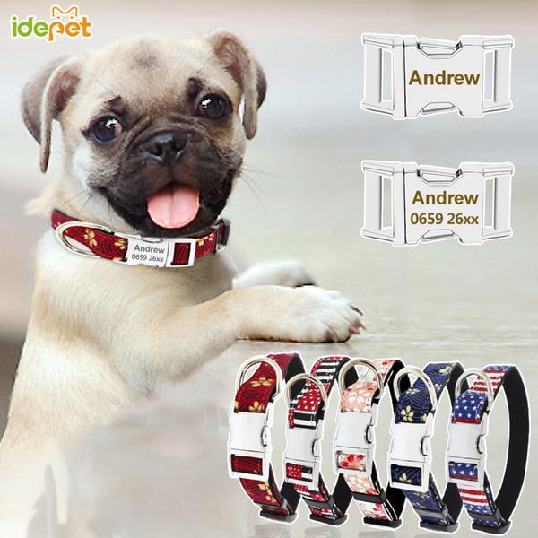 Ошейники для собак Персонализированные жгуты для домашних животных Персонализированные листы для собак Персонализированные метки для собак с кошкой Гравированный ошейник Идентификационный знак для собаки и телефон 40