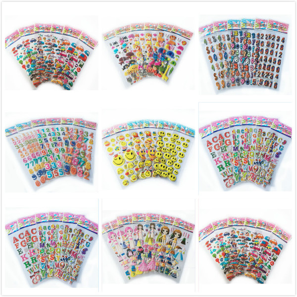 top popular arty sticker 5pcs lot mix color fruits smile number dress up girls 3D foam stickers party supplies decoration kids gift children toys YYY... 2019