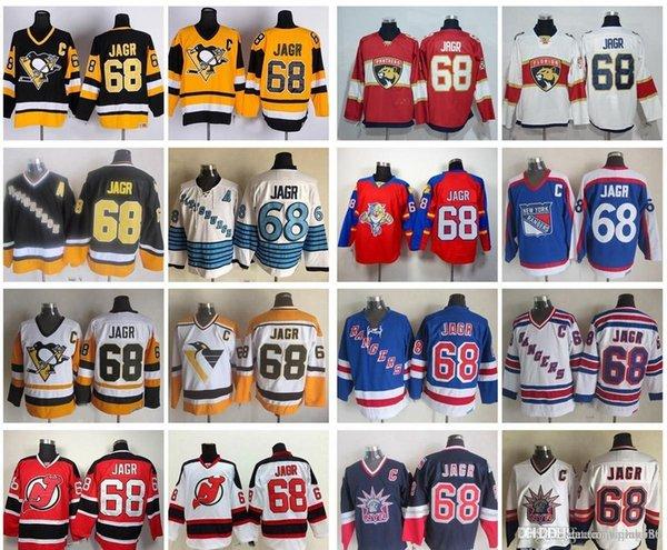 new products 208f8 09ae4 2019 Jaromir Jagr Men Hockey Jerseys Pittsburgh New Jersey Devils New York  Rangers Vintage 68 Jaromir Jagr Stitched Jersey C Patch From James_02_shop,  ...