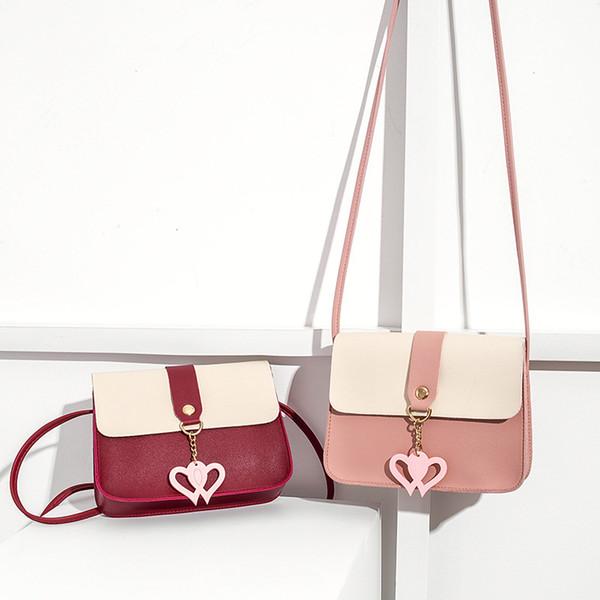 2018 autumn new tassel student mobile phone purse key female soft leather diagonal female bag