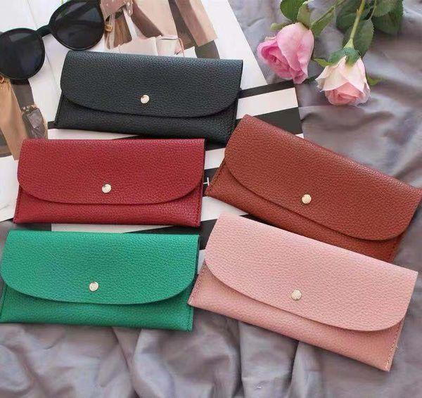 top popular Wholesale bottoms wallet designer long wallet lady multicolor designer coin purse Card holder women classic zipper pocket clutch 2020