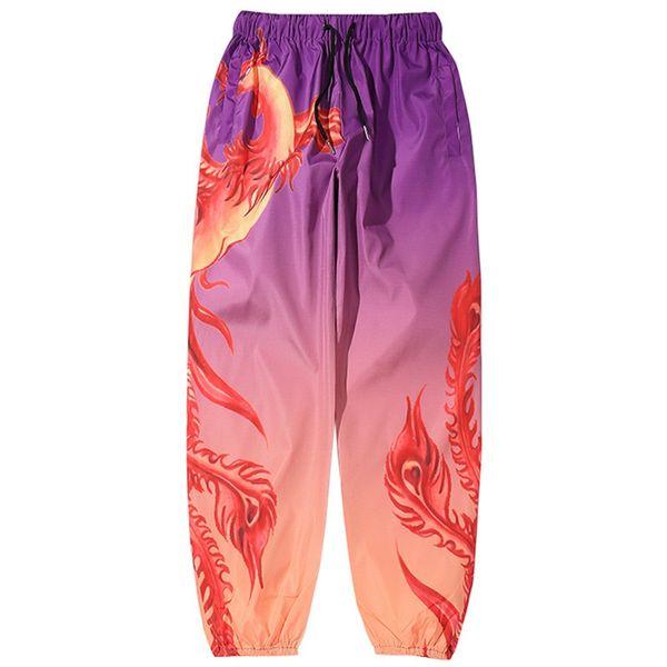 Men Hip Hop Sweatpants Fire Phoenix Harajuku Joggers Pants Streetwear 2019 Autumn Harem Pants Track Trousers Hipster Clothing