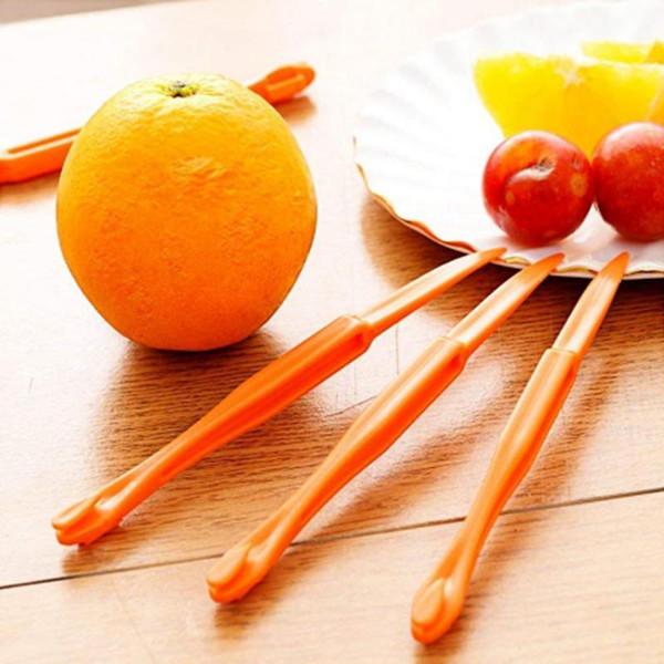 top popular 15cm Long section Orange or Citrus Peeler Fruit Zesters Stripper orange device skinning knife Citrus Opener fruit tools YYA57 2020