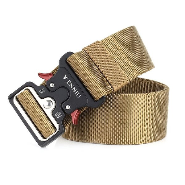 New Cobra Buckle Tactical Belt High Quality Nylon 125cm Casual Braided Belt For Men And Women Military Training #19219