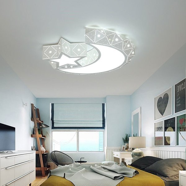 2019 Bedroom Ceiling Lamp Modern Minimalist Children Room Lamps Warm Master  Bedroom Second Bedroom Lamp Creative Star Moon Personality Lamps L118 From  ...