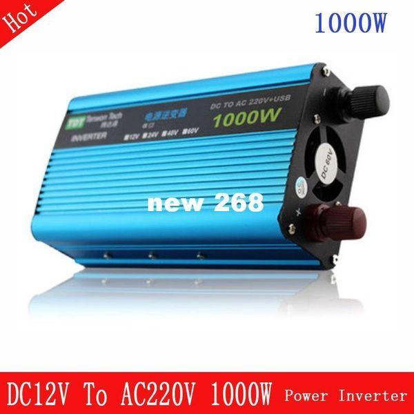 Freeshipping 1KW Generalduty battery power inverter DC 12V/24V/48V to AC 220V110V high power for Wind Turbine or solar energy