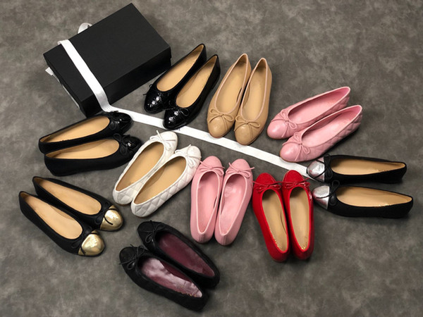 7b655ca487 New Designer Shoes Kinds Enamel Metal Buckle Genuine Leather Women Flat  Shoes Brand New Casual Travel Ballet Flats Mx181214039 Shoe Sale Shoes Uk  From ...
