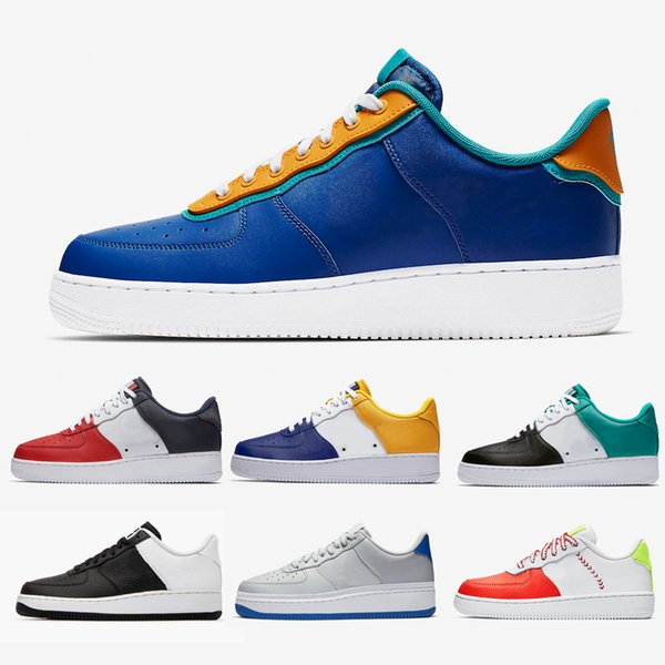NIKE Air Force 1 Air Forces 1s Indigo Men and Women Casual Shoes customs FC Barcelona Neptune Green Leisure Leather Sneaker Sports sneakers