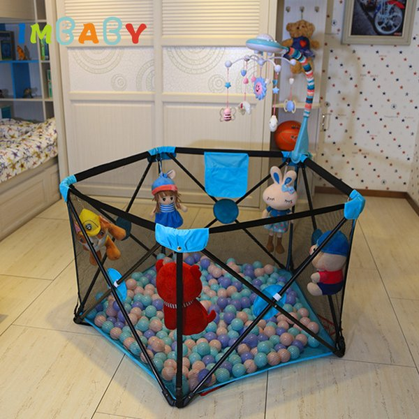 best selling IMBABY Folding Baby Playpen For Babies Portable Playpen No Need Instrallation Game Kid Children Tents For Newborns