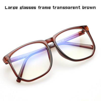Protection des yeux Lunettes de verre brut Non degré Grand Cadre Protection des yeux Lunettes de Lady et Bleu Lunettes de prévention Art hommes