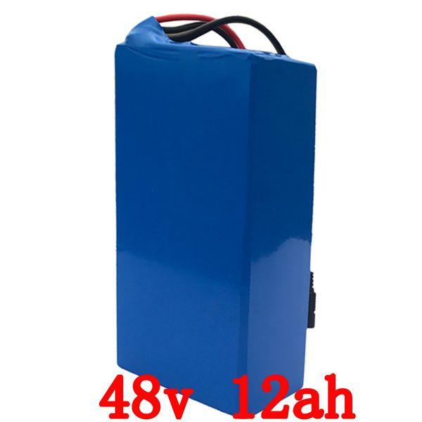 48v 1000w batterie 48v 12ah elektrische fahrradbatterie 48v 12ah lithium-ionen-akku mit 30A BMS + 54.6V 2A ladegerät