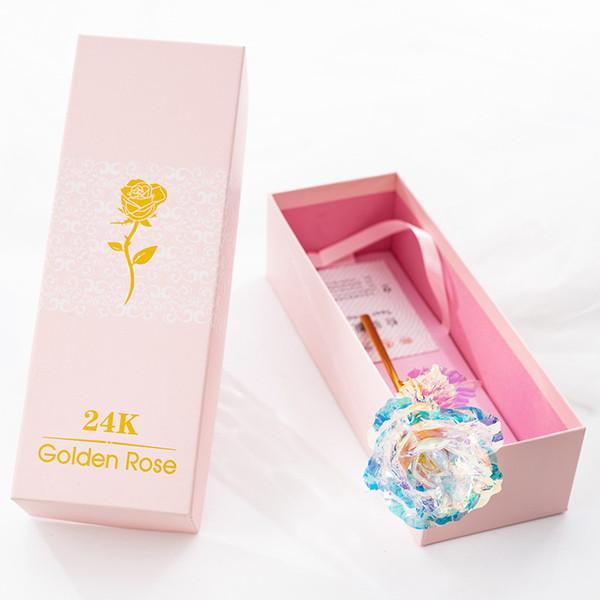 Valentine's Day Creative Gift 24K Foil Gold Rose Lasts Forever Love Wedding Decor Lover Lighting Rose Flower