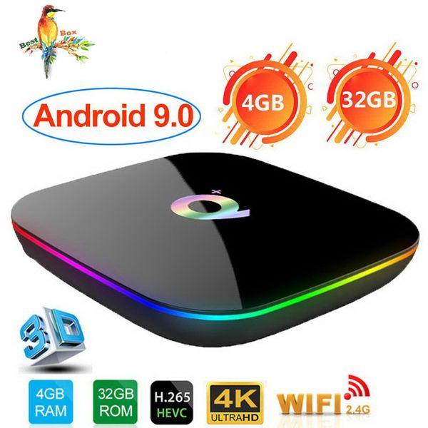 Allwinner H6 Android 9.0 TV Box 6K Ultral HD Streaming Media Player 4G 32G Quad Core Smart Mini PC 2.4G Wifi Q Plus Set Top Box USB 3.0 Q+