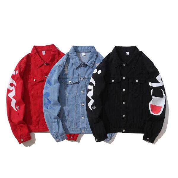 2019 Nuevo estilo de los hombres chaqueta de mezclilla invierno Jean Coat hombres mujeres manga larga desgaste al aire libre Ropa para hombres Ropa de mujer