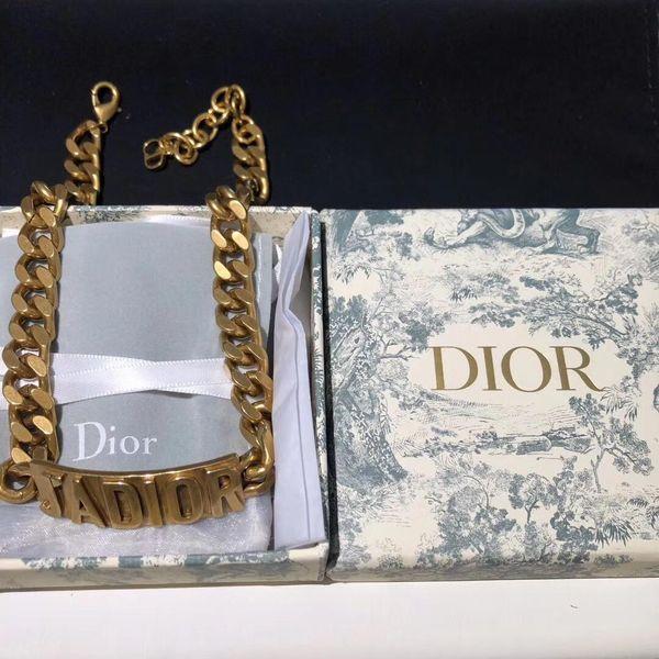 Ожерелья с цепочками из бисера Колье из ювелирных украшений Роскошные дизайнерские украшения Женское колье с металлической цепью Буква Choker 19 fashion luxur