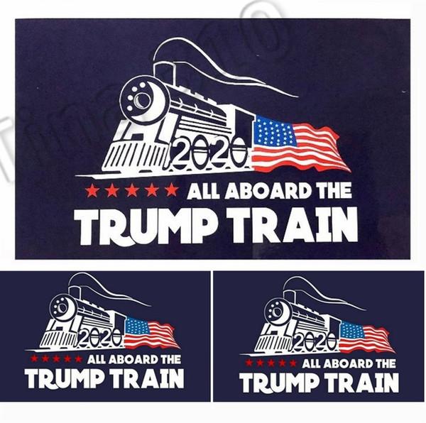 2020 atout voiture autocollant Donald Trump locomotive autocollants fenêtre de train autocollant maison salon décoration stickers muraux 4729