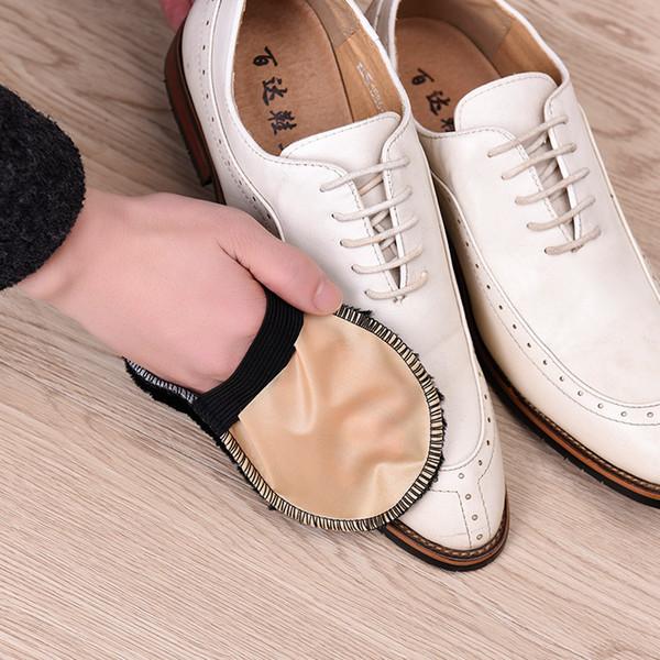 1 Pz Spazzola per la cura delle scarpe Morbide imitazione di lana Guanti per scarpe da peluche Pulisci le scarpe Borsa Guanti in pelle scamosciata Scarpe più pulite Colore casuale