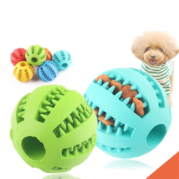 Perro de mascota Juguete Pelota de goma de juguete diámetro 5 cm Funning ABS de silicona Juguetes para mascotas Bola Masticar Bolas de limpieza dental Home Garden AAA2095