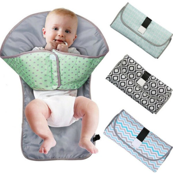 best selling 3-in-1 Multifunctional Portable Infant Baby Foldable Urine Mat Waterproof Nappy Bag Diaper Changing Cover Pad Travel Outdoor