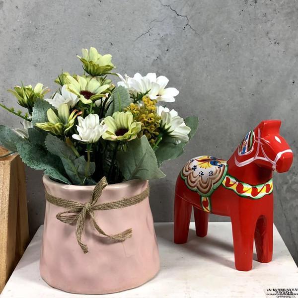 Artifial Cosmos Petit Tournesol Maman Fleur En Pot Mélange De Fleurs Sauvages Arrangement Salle d'échantillons Ferme Magasin Fenêtre Jardin Jardin Floar Décoration