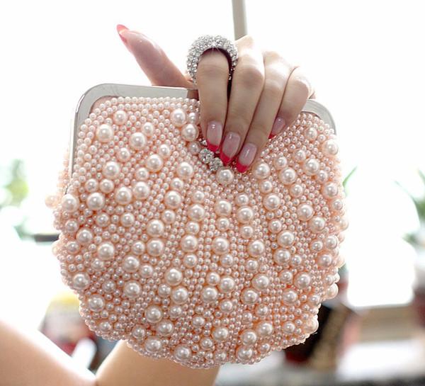 Moon heart shape crystal clutch bag Rhinestone evening bag metal Ladies party purse Heart shaped diamond Ladies Wedding Bag