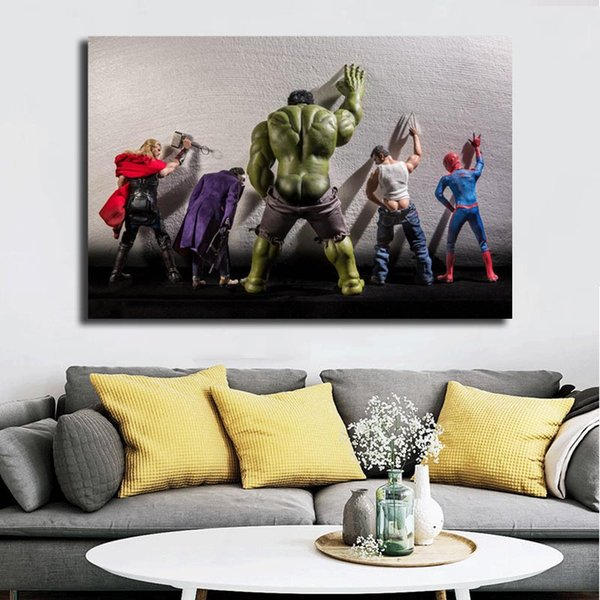 Private Lives Of Marvel Superheroes Hulk Poster HD Canvas Painting Oil Framed Wall Art Print Pictures For Living Room Home Decoracion