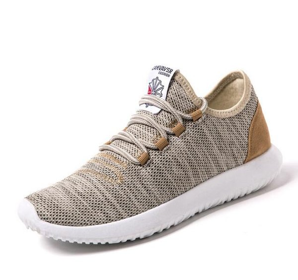 best selling Men's sneakers Summer explosions new casual shoes men's flying woven breathable mesh shoes Large size men's shoes mm