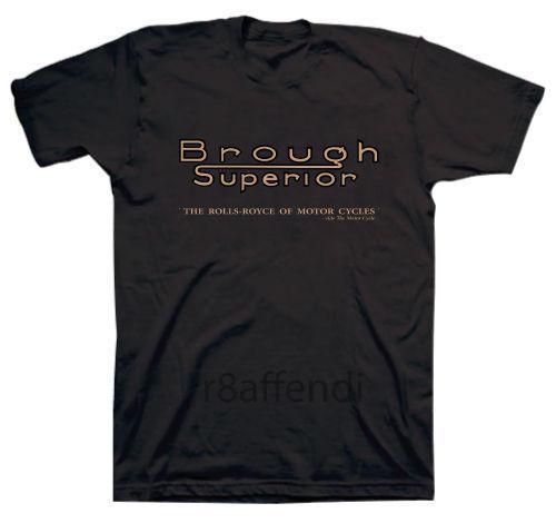 Nouveau Brough Supérieur Classique Vintage Moto Logo T-shirt Homme Adulte Slim Fit T-shirt S-Xxl Imprimer T-Shirt Harajuku Manches Courtes Hommes
