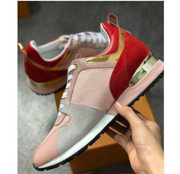 2019 NOUVEAUTÉ luxe chaussures de sport en cuir femmes Designer baskets chaussures pour hommes en cuir véritable mode Mixte couleur boîte d'origine