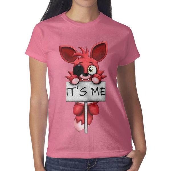 Freddy de beş Nights Fashionable pembe kadın t gömlek, gömlek, t shirt, tişörtlerin gömlek tasarım serin t süper kahraman arkadaşlar rahat t gömlek