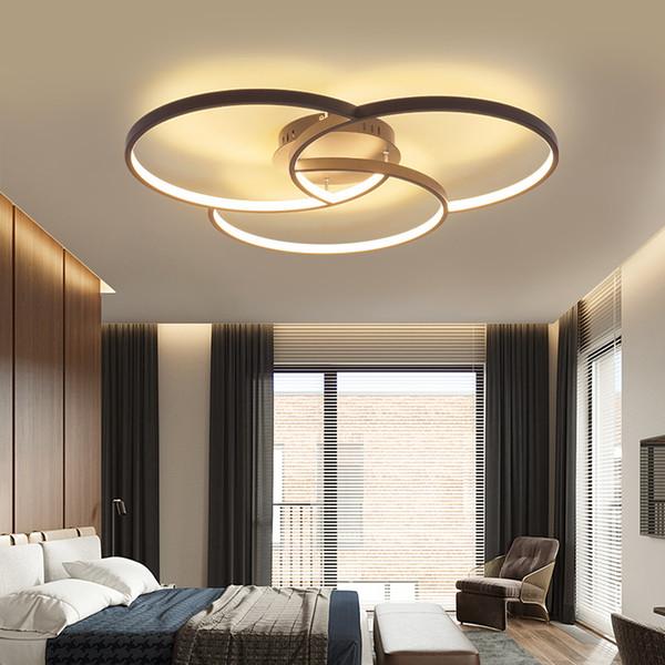 Современные светодиодные люстры для гостиной, спальни, алюминиевый корпус, пульт дистанционного управления домашней люстрой, светильники, светильники