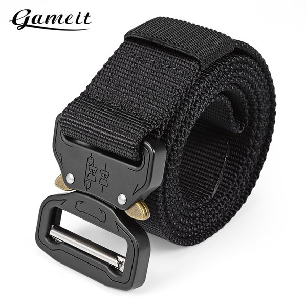 Gameit Tactical Belt Webbing Rigger Web Strap with Quick Release Buckle,easy to operate and convenient to carry