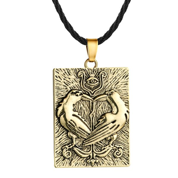 Huilin Jewelry European and American Jewelry Viking Men's Slavic Pendant Necklace Animal Crow Pendant Necklace