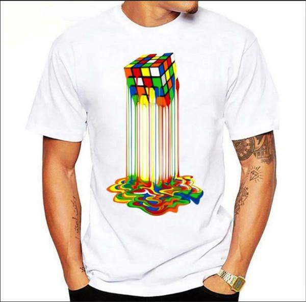 Mens Designer Sweatshirt Round Neck Mens t-shirt tee Mens womens tee Hip-hop 3D Cube Tees Casual TShirts Designer Print tees S-XXXL