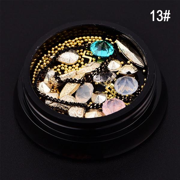 3D Nail Art Decoration Rhinestone Charm Gem Beads Crystal Diamond Cross Ring Mixed Size For Nail Art Design