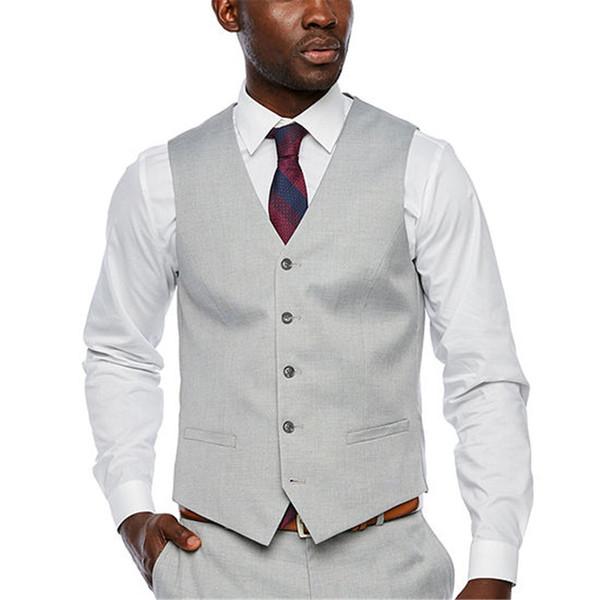 Fashion Designer Groom Vests Single Breasted Formal Vest Best Men Wear For Wedding Handsome Groomsmen Clothes