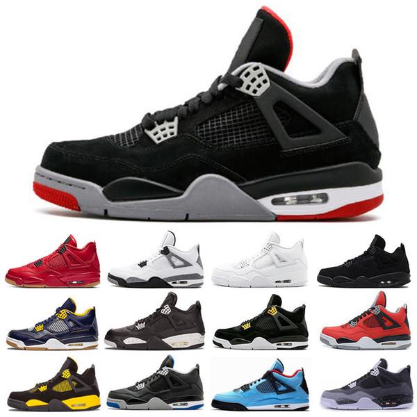 Tattoo Singles Day 4 4s Herren Damen Basketball Schuhe Raptors White Cement Alternate Motorsport gezüchtet Sneakers Sportschuhe 7-13