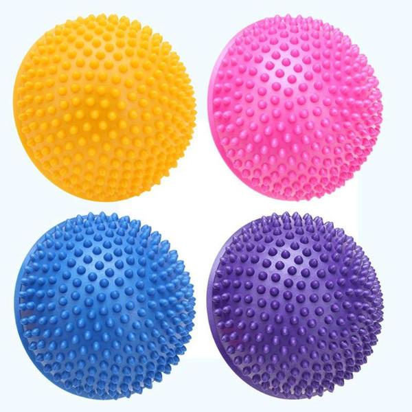 Yoga Half Ball Physical Fitness Appliance Exercise Balance Ball Point Massage Stepping Stones GYM Yoga Balls Pilates 4 Colors