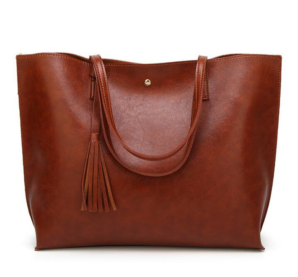 New 2019 Famous Classical Women Shoulder Bag Top quality famous women casual tote bag with wallet PU leather handbags bags Tote Bags EE6