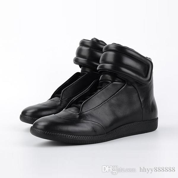 2019 High-Top Designer de alta real sapatos de couro para as mulheres Sapatilhas Calçados Femininos Apartamentos Rockrunner Sapatos Casuais homem com caixas duat dag 16 col