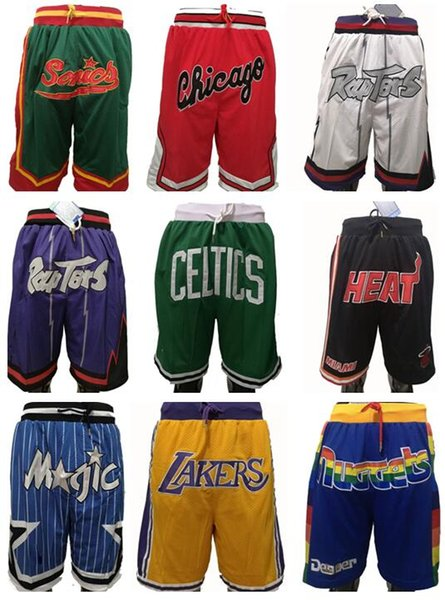 top popular Best embroidery Basketball Men Shorts with Zipper Pocket Sweatpants Sports Fitness Shorts Breathable Lightweight Training Outdoor Shorts 2019