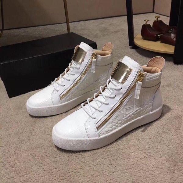 Nuovo cuoio 2019 delle donne degli uomini Winered brevetto con velluto a coste Patchwork Low Top Doppia Zip scarpe da tennis, marca scarpe casuali 35-46Drop Spedizione nm03