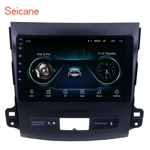 Touch Screen Android 8.1 9 inch GPS Navi Car Stereo for 2006-2014 MITSUBISHI Outlander with WIFI USB Music support OBD2 DVR Backup camera TV