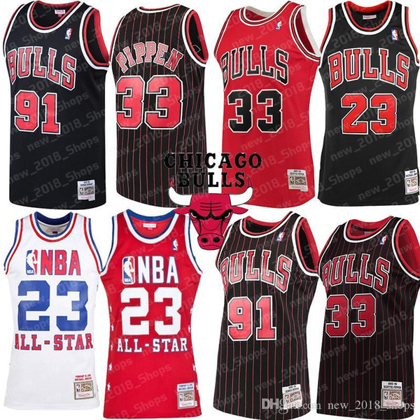 huge discount 79b08 1fcb3 2019 Scottie 33 Pippen Bulls Jersey 23 Michael Dennis 91 Rodman Chicago  Basketball Zach 8 LaVine Lauri 24 Markkanen 34 Carter Jr. From  New_2018_shops, ...