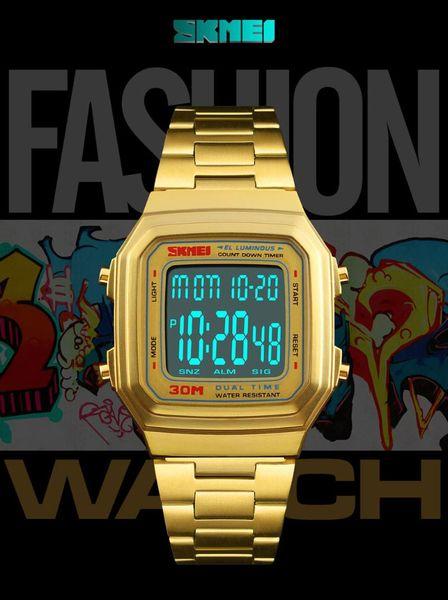 SKMEI Sports Digital Watch 30m Impermeabile Business Casual da polso da uomo 1377 Auto Date Week Display
