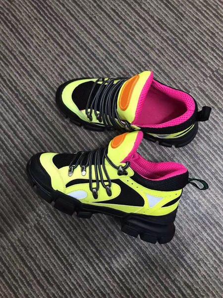 Chaussures Designer 2019 Tendance Nouvelle Annonce Hommes Chaussures Casual Luxury Ladies Hauteur extérieure Augmentation Chaussures de randonnée FlashTrek amovible Crystas C29