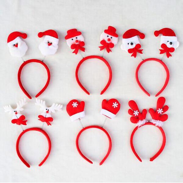2018 Adornos de Navidad Cinta de cabeza Hijos Adultos Fiesta de Santa Claus diadema cosplay vestido de lujo de Navidad Año nuevo accesorio