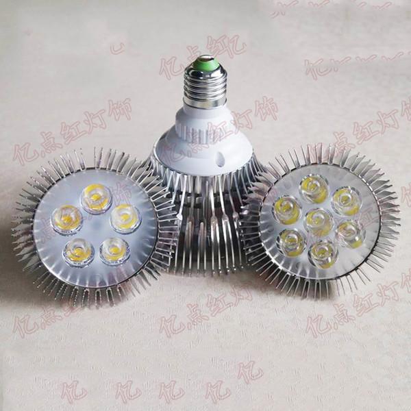 Reflector LED E27 Bombillas LED de alta potencia Focos 5W 7W PAR30 12W PAR38 de las plantas de las bombillas bombillas de bajo consumo E27 para la iluminación del acuario