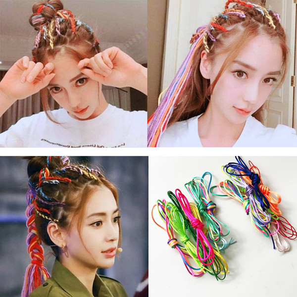 New 9 Models ethnic style Colorful Braided rope Hair Ribbons bands Accessories Magic DIY Tool Woman Girls man headwear Headdress